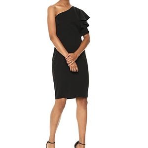 NWT Calvin Klein Ruffle Shoulder Dress - Size 4